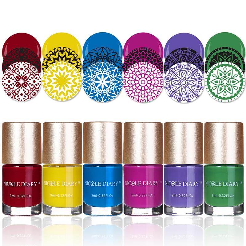 Николь дневник stamping nail art польский 9 мл sweet color nail штамповка лак 13 имеющиеся цветы