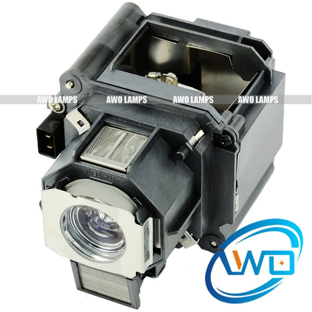 AWO Replacement Projector Lamp with Housing ELPLP63/V13H010L63 for EPSON PowerLite Pro G5650W /G5750WU/ G5950/H345A/H347A/H349A awo compatibel projector lamp vt75lp with housing for nec projectors lt280 lt380 vt470 vt670 vt676 lt375 vt675
