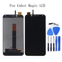 ل Cubot ماجيك LCD تعمل باللمس محول الأرقام ل Cubot ماجيك الهاتف المحمول اكسسوارات LCD رصد استبدال + شحن مجاني