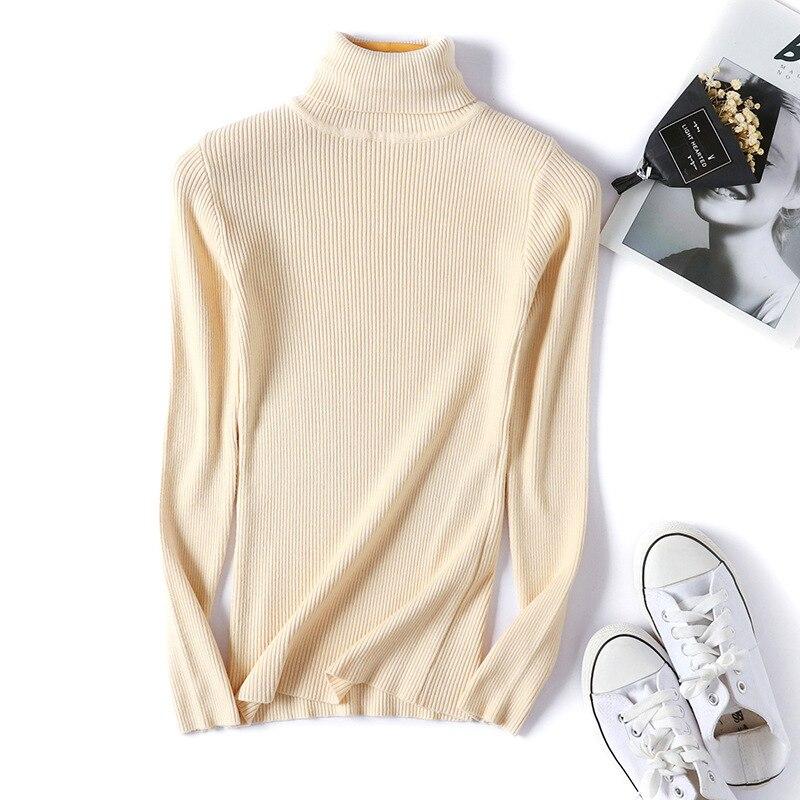 Winter autumn turtleneck Black Sweater Women Skinny Elastic Knitted Soft Pullover Sweater female 19 korean fashion Pullovers 10