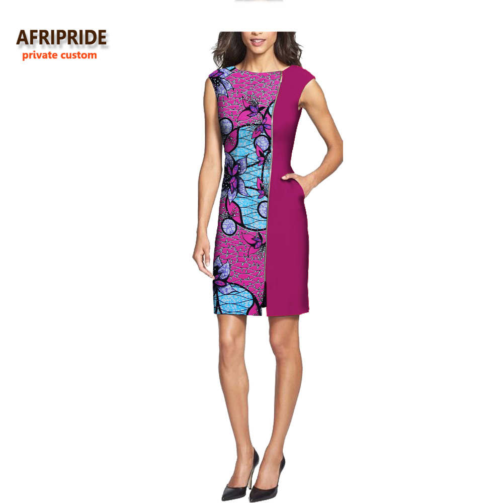 33f07796352 2018 summer sexy dress for women AFRIPRIDE customized africa print  sleeveless o-neck mid-calf length ...