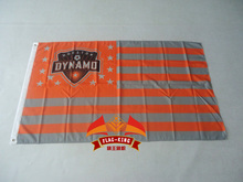 Houston Dynamo MLS Stripe and Stars Flag 3×5 FT 150X90CM Banner 100D Polyester Custom flag grommets