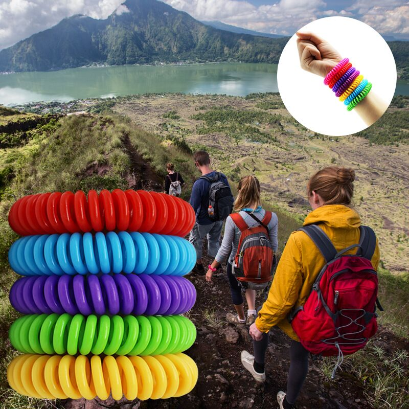 5pcs Anti Mosquito Bracelets Insect Protection Mosquito Repellent Hand Strap Pest Control Outdoor Indoor Adults Kids Wristband in Repellents from Home Garden