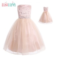 2 14 Years Hot Selling Toddle Tutu Baby Girls Flower Mesh Lace Dress Birthday Party Princess