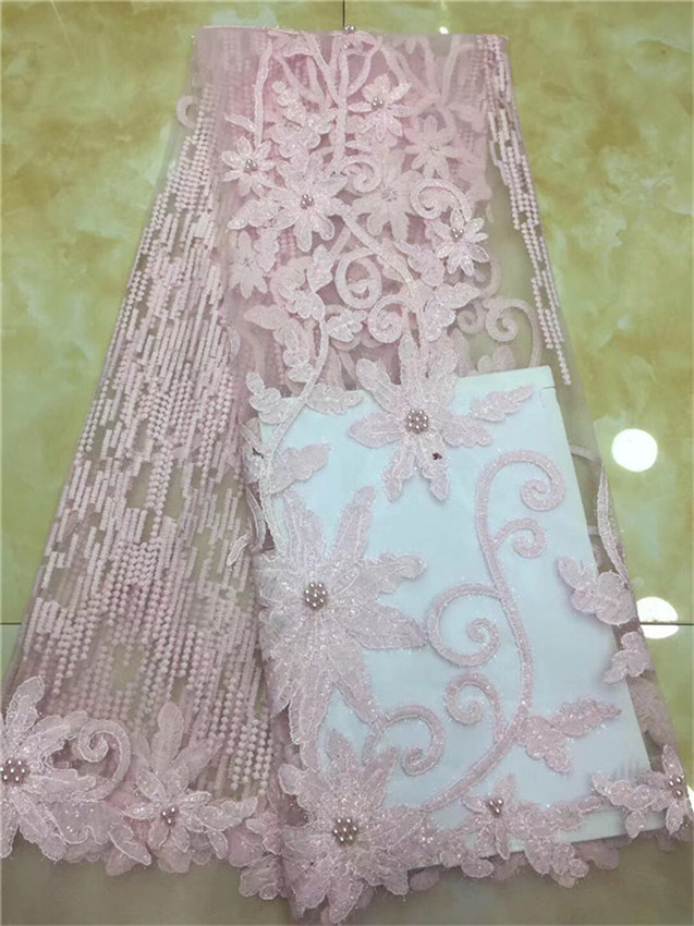 African Lace Fabric 2018 Embroidered Nigerian Laces Fabric Bridal High Quality French Tulle Lace Fabric For Women Dress(DP-12-18African Lace Fabric 2018 Embroidered Nigerian Laces Fabric Bridal High Quality French Tulle Lace Fabric For Women Dress(DP-12-18