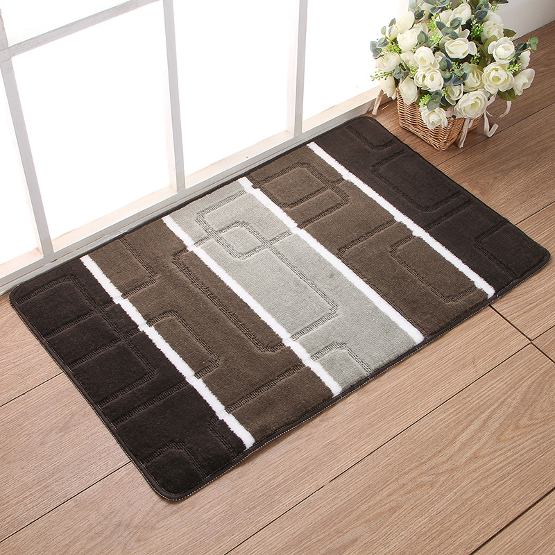 40x60cm Hot Ing Door Mats Slip Resistant Carpet Entrance Mat Doormat Outdoor Purple Blue Green Gray Stripe Pattern Home Rug In From Garden On