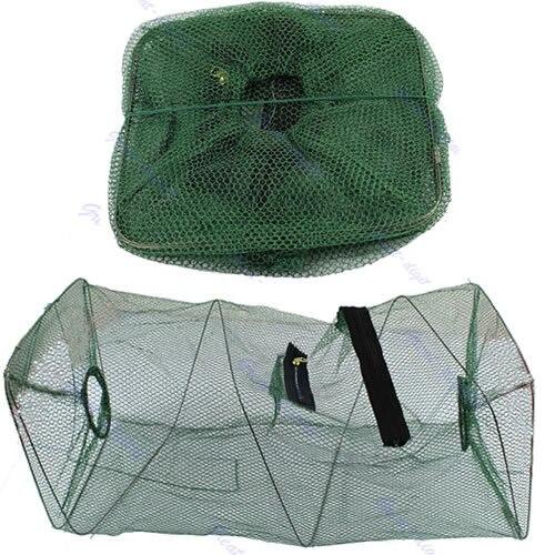 Hot Sale Foldable Crab Fish Crawdad Shrimp Minnow Fishing Bait Trap Cast Dip Net Cage Free Shipping -PY-PY