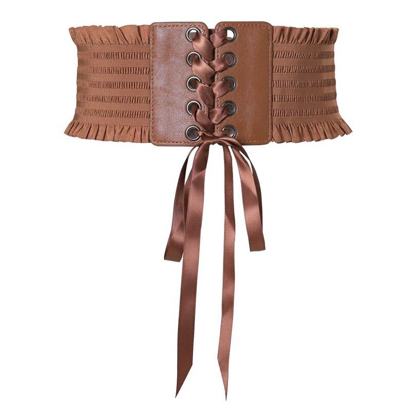 Women Lady Dress Belt Wide Decoration Waist Strap Bowknot Fashion Durable Waistband KS-shipping