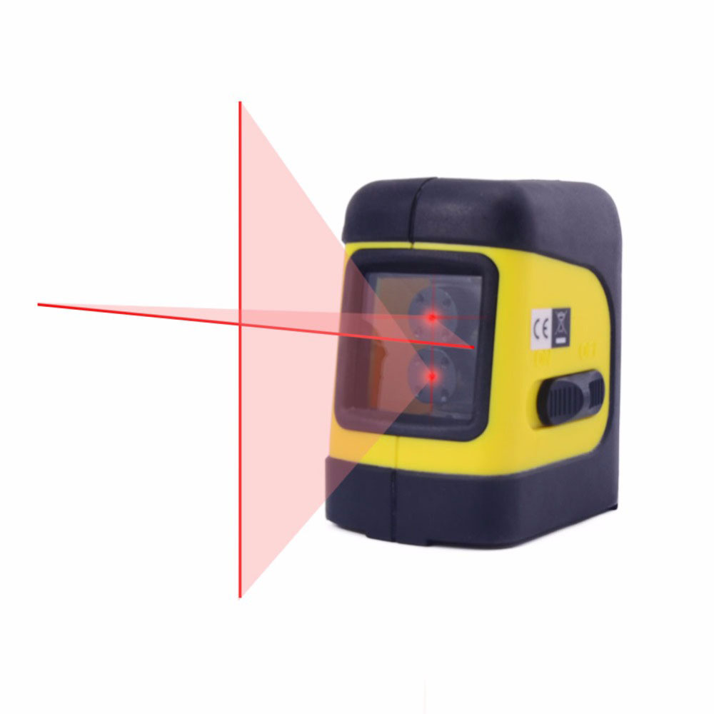 Firecore F112R 2 Lines Laser Level Self Levelling ( 4 degrees)  Horizontal and Vertical Cross-Line Mini Size