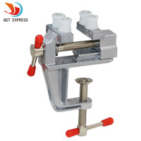 Aluminum MiniAture Small Jewelers Hobby Clamp On Table Bench Vise Tool 35x17x140mm