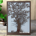 Árvore rústica Do Convite Do Casamento, Convites de Corte a laser Da Árvore, Cartões de Convite de Casamento para impressão-Pack de 50