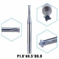 1pc P1 0 D4 5 D6 Tungsten Carbide Alloy Single Teeth Metric Thread Milling Cutter Threading