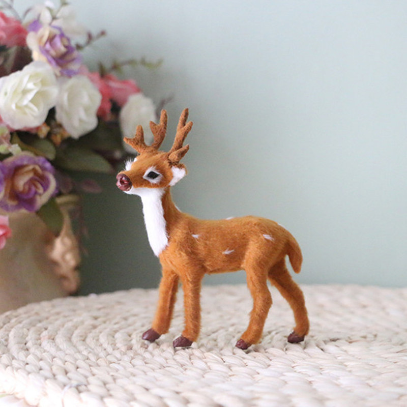cute simulation animal deer,baby deer artificial pron deer toy,decoration for garden home car small doll figure gift for child