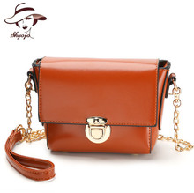 SHYOJO New Famous Brand Women's Single Shoulder Bag Chain Shoulder Bag Ladies Handbag With 6 Candy Color Clutch Cross body bags
