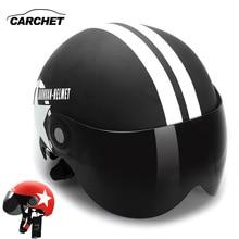 CARCHET Motocross Casco 56-60 cm Moto Casco Mezzo del Fronte del Casco Viso Aperto di Misura Adattabile Stella a Cinque punte Casco para moto
