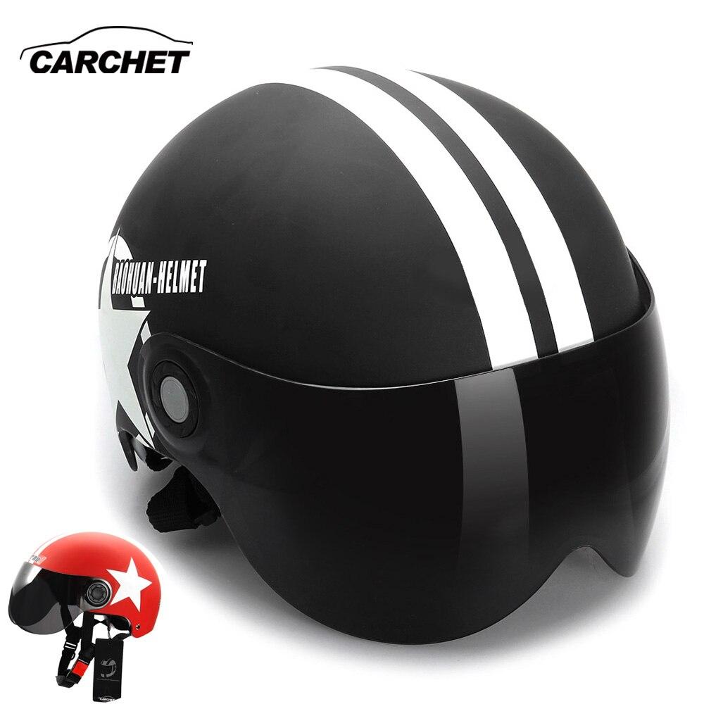 Casco de Motocross de motocicleta de 56-60 cm cascos de media cara abierta tamaño ajustable de cinco puntas Casco de estrella para moto
