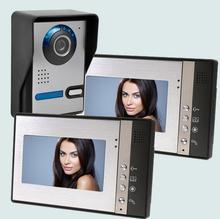 """Freeship de dhl 7 """"Color IR Cámara de Visión Nocturna Monitor de Vídeo Portero Automático Intercom Kit para Apartamento video de la puerta de Seguridad del monitor"""