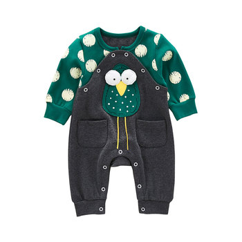 2018 Newborn Infant Baby Girl Boy Clothes Cute Cartoon Owl Romper Jumpsuit Spring Bebes Rompers One Piece