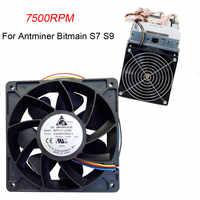 Cena fabryczna 7500 obr/min wymiana wentylatora chłodzącego 4-złącze pinowe dla Antminer Bitmain S7 S9 6M3 Drop Shipping