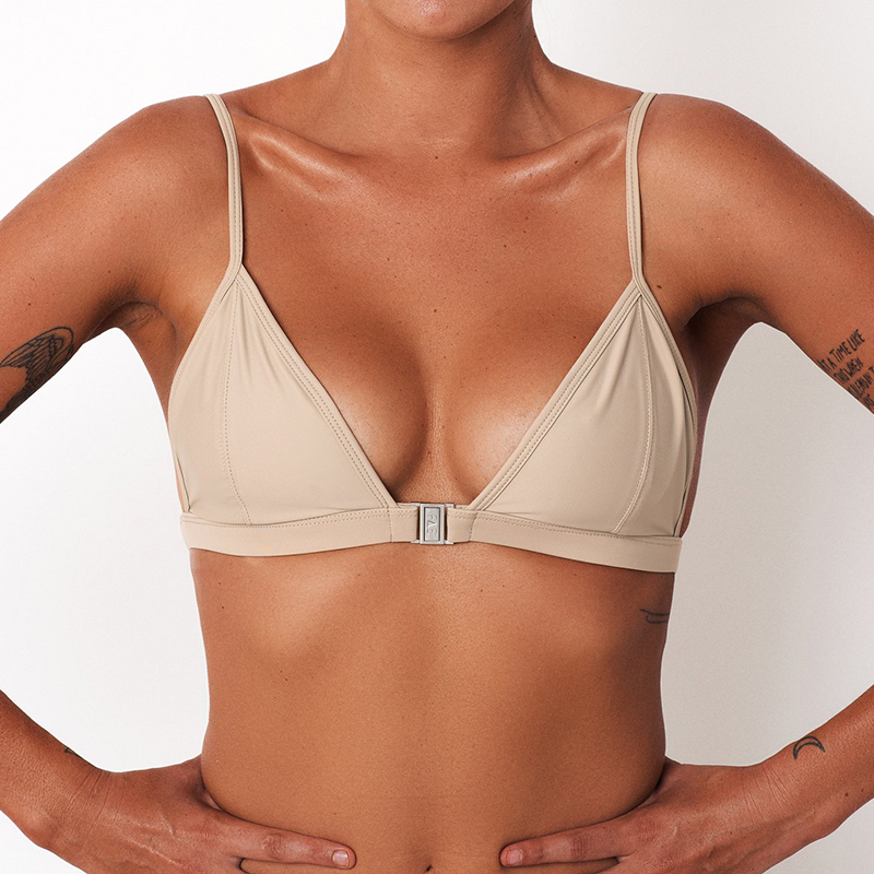 2018 High Quality Sexy Women Bandage Bikini Top Solid Triangle Bra Bikini TOP Beach Bathing Swimsuit Female Brazilian Swimsuit