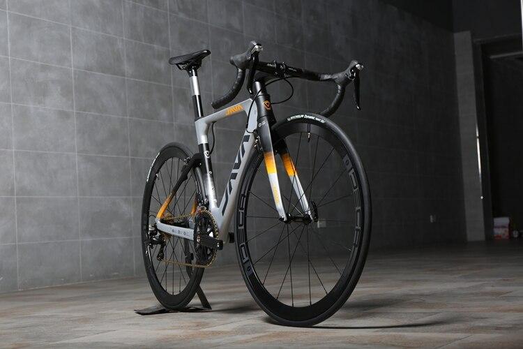 JAVA 700C Rennrad Shi mano 105 5800 Racing Fahrrad verbesserte zu DECAF Ultraleicht kurbel set 500mm 530mm 550mm