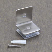 Free Shipping Glass Clamp Door Stainless Steel Hardware Part Glass Door Spreader Shower Part Sliding Door
