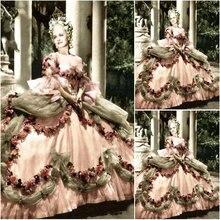 Вечернее платье в стиле южной Белль, 18 век, платья Лолиты в викторианском стиле/платье Скарлетт, US6-26 SC-1048