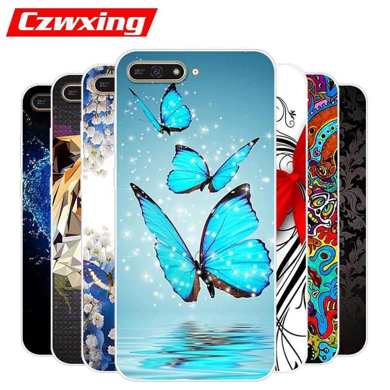 For Huawei Y6 2018 Case Prime Silicone TPU Soft Cover Phone Y 6 Y6Prime Y62018