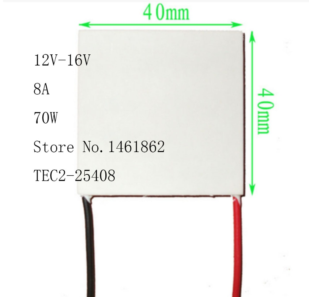 TEC2-25408 8A 12V-16V 70W 40*40MM 30 Degree Double-Deck Thermoelectric Cooler Cooling Peltier Plate Module Electronic Components tec2 19003 3a 16v 15w 30 30mm double