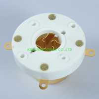 1pc Vacuum Gold Plate 4Pin Tube Socket Chassis Mount For 805 845 Tube Amplifier