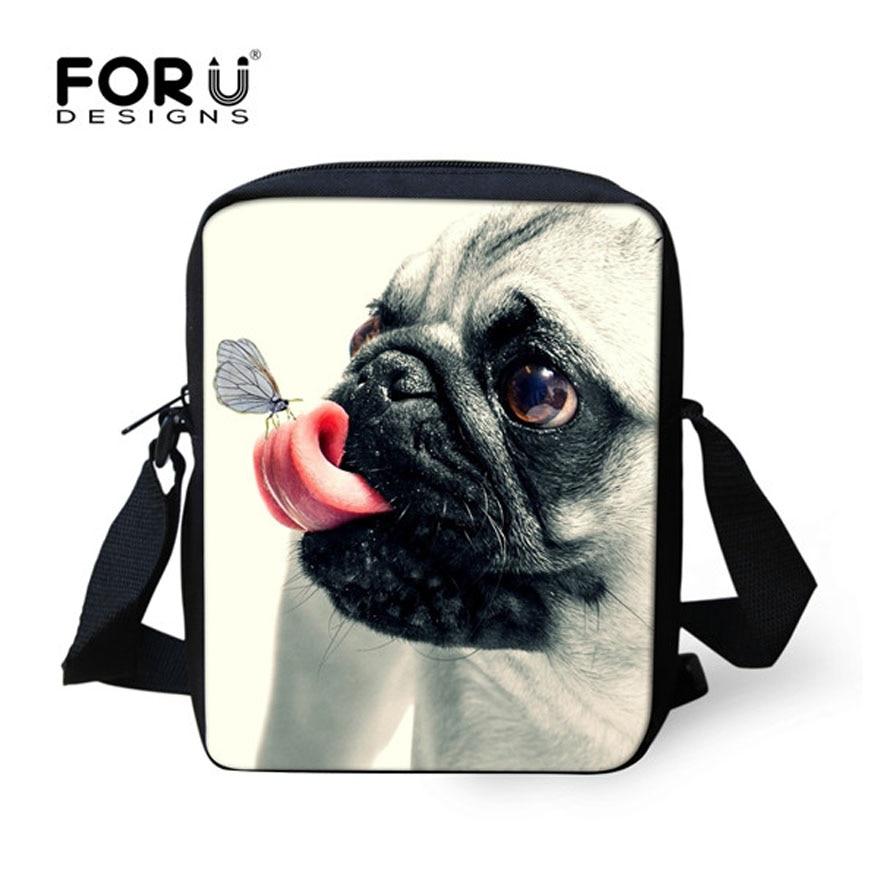 FORUDESIGNS Cute 3D Pug Dog Children School Bags Kids Schoolbag Mini Book Bag For Teenager Girl Kindergarten Mochilas Infantil