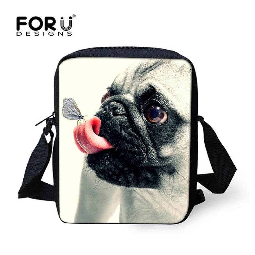 Forudesigns/3D Мопс собаки Школьные ранцы дети школьный Мини Книга сумка для девочек-под ...