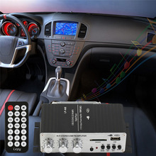 12V HiFi Auto Audio Car Amplifier Power Subwoofer MP3 CD Home Audio Stereo Music Player With USB Port DVD FM MMC+ Remote Control
