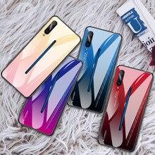 For Vivo IQ00 X27 V15 Pro S1 X23 Case Gradient Soft TPU Frame+Tempered Glass Colorful Z3 Z3i V11i Z1 Z1i Back Cover