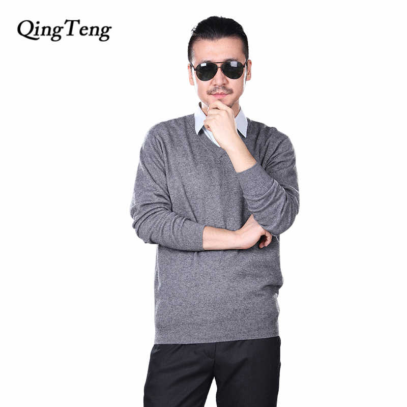 a57f5ec90b6 ... Men Sweaters Middle Ages Large Size Wool Cashmere Jumper Manly Winter  Autumn Knitted Warm Jacket Male ...
