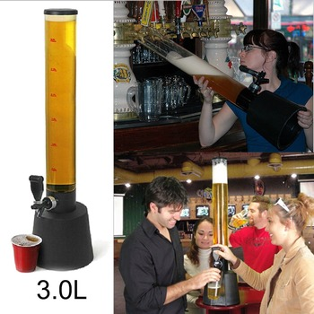 Beer Tower Dispenser Ice Tube Juice Fountain Party Beer Bong 3.0L*VB CARL фото