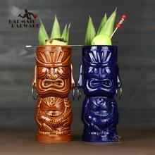 370ml Hawaii Tiki Mugs Cocktail Cup Beer Beverage Mug Wine Ceramic Ku.Ku.Kauioo