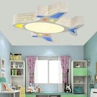 Avião quarto Luzes de Teto moderna forma dos desenhos animados das crianças encantadoras simples lâmpada do teto CONDUZIU a lâmpada personalidade menino LU623 ZL462