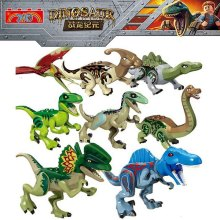 8Pcs 77037 Jurassic World 2 Dinosaur Tyrannosaurus Building Blocks Dinosaur Action Figure Bricks Dinosaur Toys Gift 79151 77001 jurassic world 2 dinosaur tyrannosaurus building blocks dinosaur action figure bricks legoings dinosaur toys gift