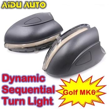 AIDUAUTO FOR VW Golf MK6 GTI 6 R line Dynamic Blinker Side Mirror indicator For Volkswagen VI R20 LED Turn Signal Light Touran