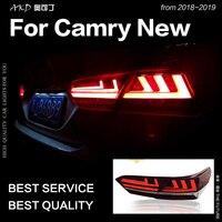 АКД Фирменная Новинка хвост лампа для Toyota Camry поворотники, аксессуары огни 2018 Camry XSE светодио дный задний фонарь обновление до LS400 дизайн свет