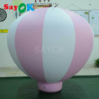 1.5m(5ft)H PVC half hot air balloon inflatable hanging balloons for Baby birthday/party/event/show/advertising/exhibition