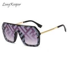 Long Keeper Sunglasses Women Men Square Sun Glasses Eyewear Watermark Eyeglasses Frame PC Legs Lens Shade UV400 Fashion Driving цены