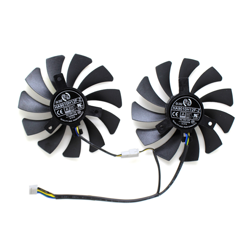 Купить с кэшбэком New Original HA9010H12F-Z Graphics Card Cooling Fan For MSI GeForce GTX 1050 Hurricane GTX 1060 Hurricane 6G GDDR