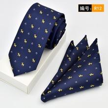 Brand Gravata New Red Rose Floral Mens Neckties Slim Necktie Silk Ties For Men Tie With Match Pocket Square 2pcs Set