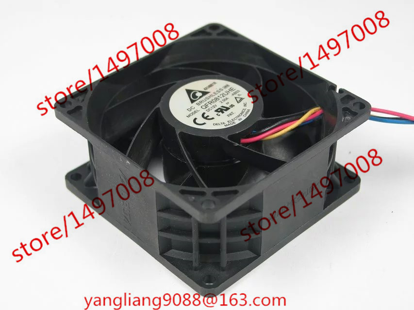 купить  Free Shipping For Delta QFR0812UHE, -AB53 DC 12V 2.50A 4-wire 4-pin connector 80mm 80X80X38mm Server Square Cooling Fan  онлайн