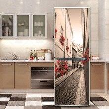 Yazi Холодильник Отремонтированы Наклейки Самоклеющиеся ПВХ Холодильник Крышка Стикер Стены Обои Кухня Декор 60 х 150 см 60 х 180 см