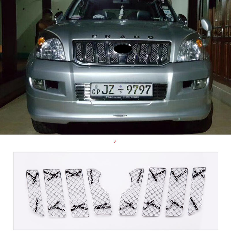 Car Insect Screening Mesh Front Grille For Toyota Land Cruiser Prado FJ 120 2003 2004 2005 2006 2007 2008 2009 Accessories Toyota Land Cruiser