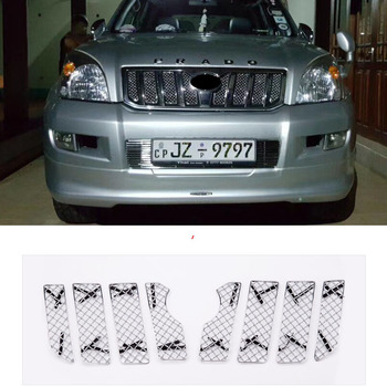 Auto Insect Screening Mesh Grille Voor Toyota Land Cruiser Prado FJ 120 2003 2004 2005 2006 2007 2008 2009 accessoires