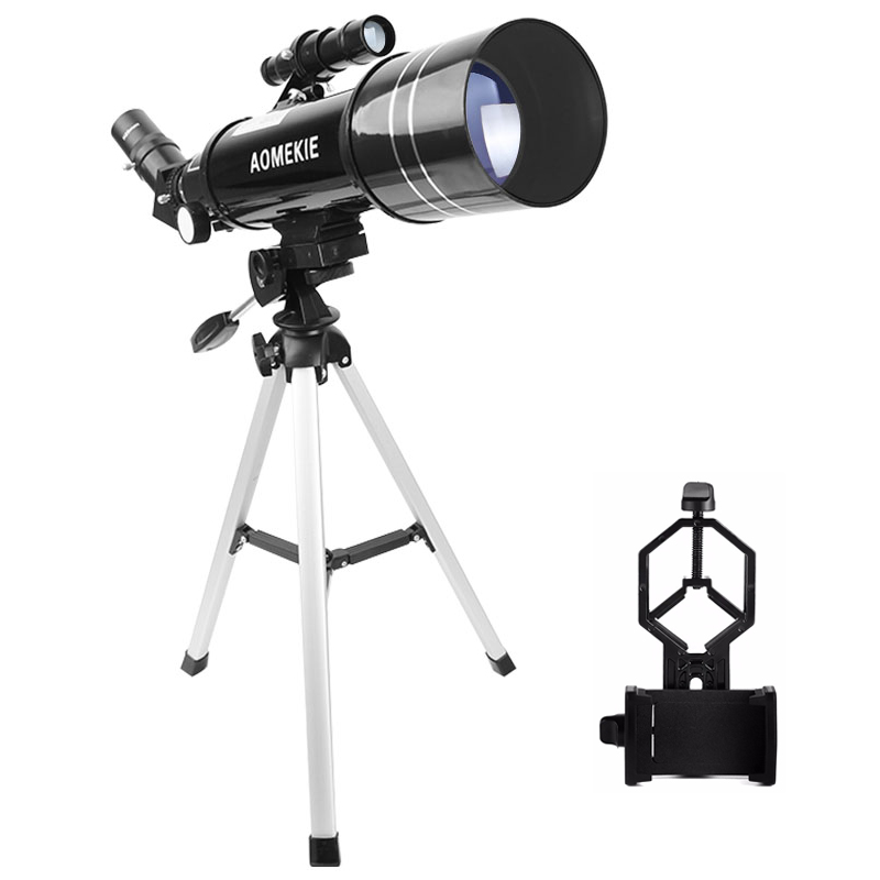 AOMEKIE F40070M Astronomical Telescope Moon Bird Watching HD Telescope with Compact Tripod&Phone Holder Gift for Kids Beginner kid s gift entry level astronomical telescope with tripod for children